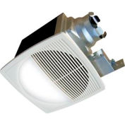 Continental Fan TBFR90L Premium Bathroom Fan, Round Lighted 2 Speed 80-50 CFM