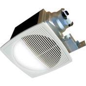 Continental Fan TBFR120L Premium Bathroom Fan, Round Lighted 2 Speed 100-70 CFM