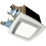 Continental Fan TBFS90L Premium Bathroom Fan, Square Lighted 2 Speed 70-50 CFM