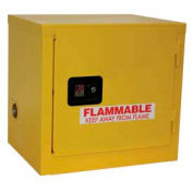 "Global™ Slim Flammable Cabinet BA06YP - Manual Close Single Door 6 Gallon - 23""W x 18""D x 22""H"