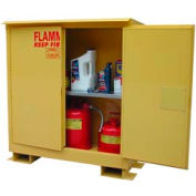 Flammable Safety Cabinet with Roof - 30 Gallon Self Close Doors