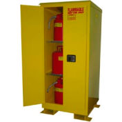 Flammable Safety Cabinet with Roof - 60 Gallon Manual Doors