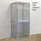 Hallowell BSL366090-R-2S-PL Bulk Tenant Storage Locker Double Tier Starter 36x60x45 - Light Gray