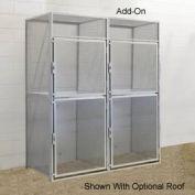 Hallowell BSL366090-R-2A-PL Bulk Tenant Storage Locker Double Tier Add-On 36x60x45 - Light Gray