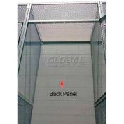 "Hallowell 4704890PL Bulk Storage Locker Back 48""Wx90""H"