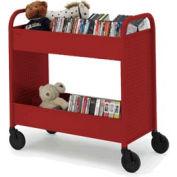 Bretford B234-CD Browser Book Truck Red
