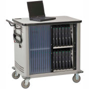 Datum LapTop™ Storage and Charging Cart, 26-Device Capacity, Light Gray