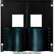 Chase Doors Extra HD Single Panel Traffic Door 4'W x 7'H Black DIS4884-BK