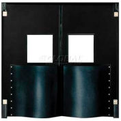 Chase Doors Extra HD Double Panel Traffic Door 5'W x 7'H Black DID6084-BK