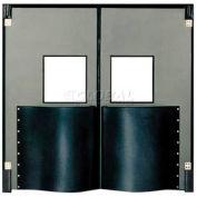 Chase Doors Extra HD Double Panel Traffic Door 6'W x 8'H Metallic Gray DID7296-MG