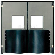 Chase Doors Extra HD Double Panel Traffic Door 8'W x 8'H Metallic Gray DID9696-MG