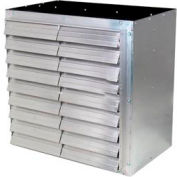 """J&D 36"""" Galvanized Wall Master Exhaust Fan, Direct Drive, 1/2hp, 3 Phase"""