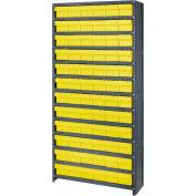 Quantum CL1275-601 Closed Shelving Euro Drawer Unit - 36x12x75 - 72 Euro Drawers Yellow