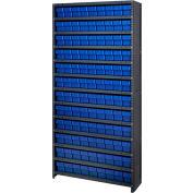 Quantum CL1875-604 Closed Shelving Euro Drawer Unit - 36x18x75 - 108 Euro Drawers Blue
