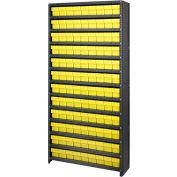 Quantum CL1875-604 Closed Shelving Euro Drawer Unit - 36x18x75 - 108 Euro Drawers Yellow