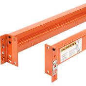 "Global Industrial™ Unslotted Steel Pallet Rack Beam, 96""L x 5-1/8""H, 7160 Lb. Cap., Set Of 2"