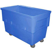 Dandux Rectangular Plastic Box Truck 51166516U-4S Blue 16 Bushel 660 Lb. Cap.