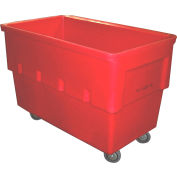 Dandux Rectangular Plastic Box Truck 51166518R-4S Red 18 Bushel 660 Lb. Cap.