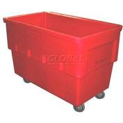 Dandux Rectangular Plastic Box Truck 51156542R Red 42 Bushel 1120 Lb. Cap.