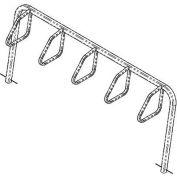5-Bike City Bicycle Rack, Single Sided, Below Grade Mount