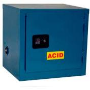 Global™ Stackable Acid Corrosive Cabinet - Manual Close Single Door 6 Gallon - 23x18x22