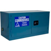 Global Industrial™ Stackable Acid Corrosive Cabinet Manual Close Double Door 11 Gallon 34x18x22