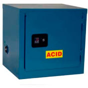 Jamco Stackable Acid Corrosive Cabinet BU06-BP-PL-CL - Self Close Single Door 6 Gallon - 23x18x22