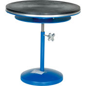 "Vestil Manual 24"" Diameter Pedestal Turntable TT-N-24-DPED 24-1/16"" to 35-1/16""H 300 Lb."