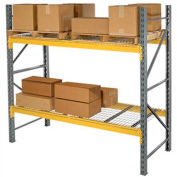 "Husky Rack & Wire L183614450096S Double Slotted Pallet Rack Starter 96""W x 36""D x 144""H"