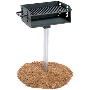 "ADA Rotating Pedestal Outdoor Grill With 3-1/2"" Dia. Post(280 Sq. In. Cooking Surface)"