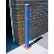 "7""x 52"" Bollard Cover - Blue Cover/Red Tapes"