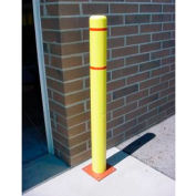 "7""x 60"" Bollard Cover - Yellow Cover/Red Tapes"