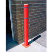 """7""""x 60"""" Bollard Cover - Red Cover/Blue Tapes"""
