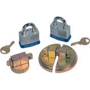 Justrite® 8510 Drum Lock Set with Padlocks for Steel Drums - Pair