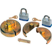 Justrite® 8511 Drum Lock Set with Padlocks for Plastic Drums - Pair