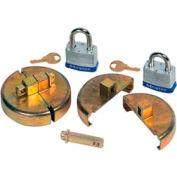 Justrite® 08511 Drum Lock Set with Padlocks for Plastic Drums - Pair