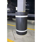 "44""H x 60""W Soft Nylon Column Protector - Black Cover/White Tapes"