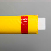 "108""W Soft Nylon Gate Arm Cover - Yellow Cover/Red Tapes - Pkg Qty 6"