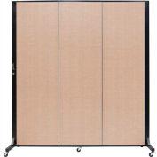 Screenflex 3 Panel Mobile Room Divider - Fabric Color: Tan