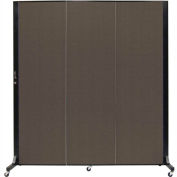 Screenflex 3 Panel Mobile Room Divider - Fabric Color: Charcoal