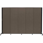 Screenflex 5 Panel Mobile Room Divider - Fabric Color: Charcoal