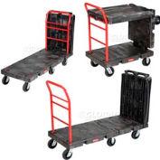 "Rubbermaid® 4496 Convertible Platform Truck 6"" Rubber Casters"