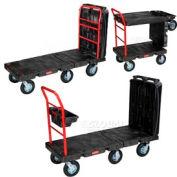"Rubbermaid® 4497 Convertible Platform Truck 8"" Pneumatic Casters"