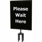 "Queueway Acrylic Sign - Please Wait Here 11X14"" (Single Side)"