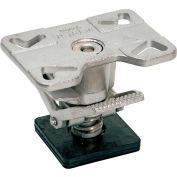 """Vestil Adjustable Height Stainless Steel Floor Lock FL-ADJ-46-SS for 4, 5 & 6"""" Casters"""