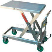 Stainless Steel Mobile Scissor Lift Table CART-550-SS 550 Lb. Capacity