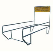 """VersaCart® Double Outdoor Shopping Cart Corral without Divider 12'L x 60""""W"""
