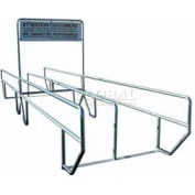 """VersaCart Dual Access Double Outdoor Shopping Cart Corral with Divider 24'L x 60""""W"""