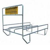 "VersaCart® Triple Outdoor Shopping Cart Corral 12'L x 90""W"