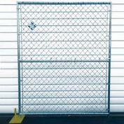 Chain Link Fence, Powder Coat Finish - 5'Wx6'H 4 Panel Kit